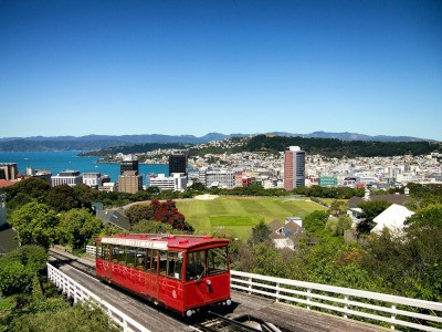 Wellington Harbour from above the Cable Car